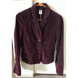 Marc by Marc Purple Corduroy Blazer